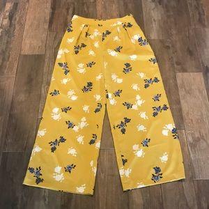 Flower dress pants